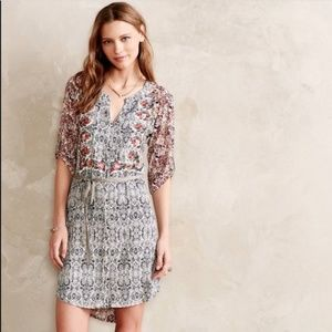 ANTHRO TINY Floral Boho Patterned Button Dress M